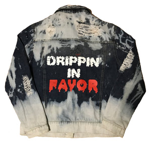 30:5 Drippin' In Favor Denim Jacket, Medium - Good Friend Graphics