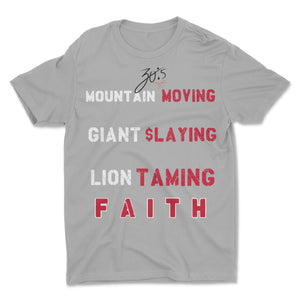 30:5 Mountain Moving Faith T Shirt, Small / Midnight Navy - Good Friend Graphics