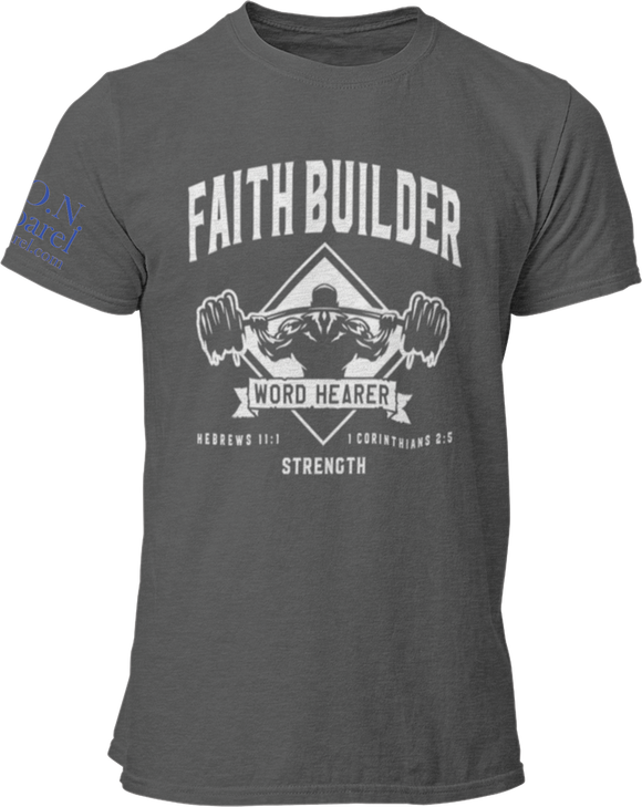 L.I.O.N. Apparel Graphic T-Shirt Faith Builder, Small / Dark Gray - Good Friend Graphics