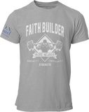 L.I.O.N. Apparel Graphic T-Shirt Faith Builder, Small / Light Gray - Good Friend Graphics