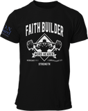 L.I.O.N. Apparel Graphic T-Shirt Faith Builder, Small / Black - Good Friend Graphics