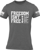 M.R.E. Clothing Graphic T-Shirt Freedom Isn't Free, Small / Dark Gray - Good Friend Graphics