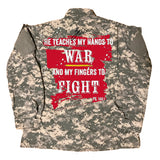 30:5 Hands To War Vintage Digital Camo Jacket (Unisex), Small - Good Friend Graphics