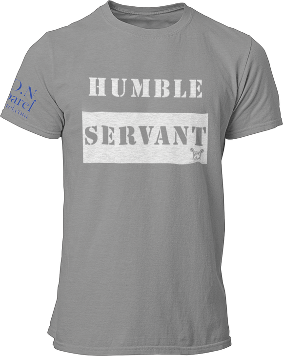 L.I.O.N. Apparel Graphic T-Shirt Humble Servant, Small / Light Gray - Good Friend Graphics