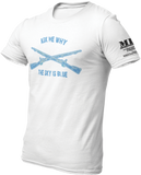 M.R.E. Clothing Graphic T-Shirt Ask Me Why the Sky is Blue US Infantryman, Small / White - Good Friend Graphics