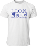L.I.O.N. Apparel Graphic T-Shirt Logo, Small / White - Good Friend Graphics