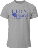 L.I.O.N. Apparel Graphic T-Shirt Logo, Small / Light Gray - Good Friend Graphics