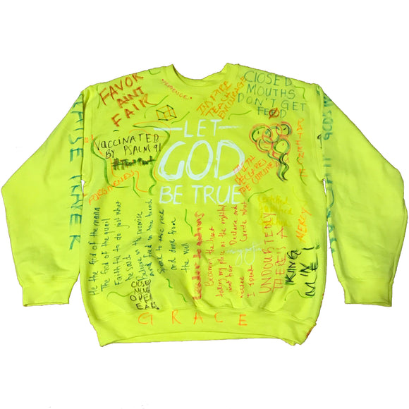 30:5 Let God Be True Handwritten Graffiti Sweatshirt, Small - Good Friend Graphics