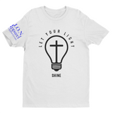 L.I.O.N. Apparel Graphic T-Shirt Let Your Light Shine, Small / White - Good Friend Graphics
