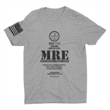 M.R.E. Clothing  Label Graphic T-Shirt, Small / Light Gray - Good Friend Graphics