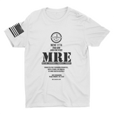 M.R.E. Clothing  Label Graphic T-Shirt, Small / White - Good Friend Graphics