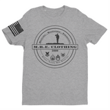 M.R.E. Clothing Logo Graphic T-Shirt, Small / Light Gray - Good Friend Graphics