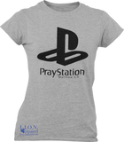 L.I.O.N. Apparel Graphic T-Shirt PrayStation, Women's Small / Light Gray - Good Friend Graphics