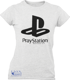L.I.O.N. Apparel Graphic T-Shirt PrayStation, Women's Small / White - Good Friend Graphics