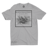 Mavro Scholeiou Graphic T-Shirt Black Wallstreet, Small / Light Gray - Good Friend Graphics