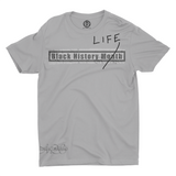 Mavro Scholeiou Graphic T-Shirt Black History Life, Small / Light Gray w/ Black - Good Friend Graphics