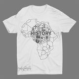 Mavro Scholeiou Graphic T-Shirt Motherland History, Small / White - Good Friend Graphics