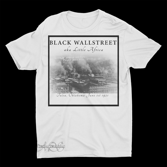 Mavro Scholeiou Graphic T-Shirt Black Wallstreet, Small / White - Good Friend Graphics