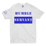 L.I.O.N. Apparel Graphic T-Shirt Humble Servant, 2XL / Blue on White - Good Friend Graphics