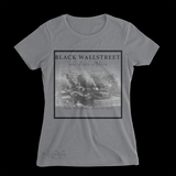 Mavro Scholeiou Graphic T-Shirt Black Wallstreet, Women's Small / Light Gray - Good Friend Graphics