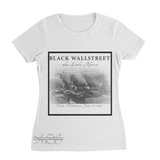 Mavro Scholeiou Graphic T-Shirt Black Wallstreet, Women's Small / White - Good Friend Graphics