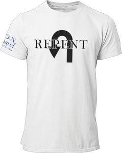 L.I.O.N. Apparel Graphic T-Shirt Repent, Women's Small / Light Gray - Good Friend Graphics