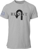 L.I.O.N. Apparel Graphic T-Shirt Repent, Small / Light Gray - Good Friend Graphics