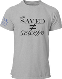 L.I.O.N. Apparel Graphic T-Shirt Saved Does Not Equal Scared,  - Good Friend Graphics