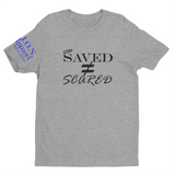 L.I.O.N. Apparel Graphic T-Shirt Saved Does Not Equal Scared, Small / Light Gray - Good Friend Graphics
