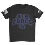 M.R.E. Clothing Graphic T-Shirt Spray Paint Air Force, Small / Black - Good Friend Graphics