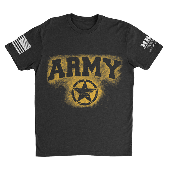 M.R.E. Clothing Graphic T-Shirt Spray Paint Army, Small / Black - Good Friend Graphics