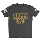 M.R.E. Clothing Graphic T-Shirt Spray Paint Army, Small / Dark Gray - Good Friend Graphics
