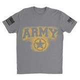 M.R.E. Clothing Graphic T-Shirt Spray Paint Army, Small / Light Gray - Good Friend Graphics