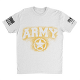 M.R.E. Clothing Graphic T-Shirt Spray Paint Army, Small / White - Good Friend Graphics
