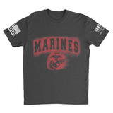 M.R.E. Clothing Graphic T-Shirt Spray Paint Marine Corps, Small / Dark Gray - Good Friend Graphics