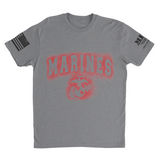 M.R.E. Clothing Graphic T-Shirt Spray Paint Marine Corps, Small / Light Gray - Good Friend Graphics