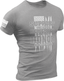 M.R.E. Clothing Graphic T-Shirt Support Remember Honor, Small / Light Gray - Good Friend Graphics