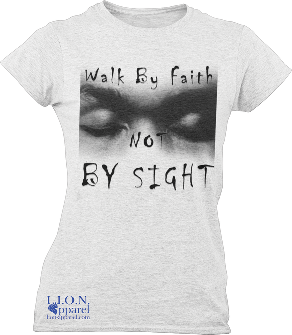 L.I.O.N. Apparel Graphic T-Shirt Walk By Faith Not By Sight,  - Good Friend Graphics