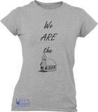 L.I.O.N. Graphic T-Shirt We ARE the Church, Women's Small / Heather Gray - Good Friend Graphics