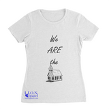 L.I.O.N. Graphic T-Shirt We ARE the Church, Women's Small / White - Good Friend Graphics
