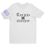 L.I.O.N. Apparel Graphic T-Shirt Saved Does Not Equal Scared, Small / White - Good Friend Graphics