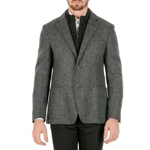 Corneliani Mens Jacket Long Sleeves Grey