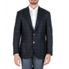 Corneliani Mens Jacket Long Sleeves Dark Blue