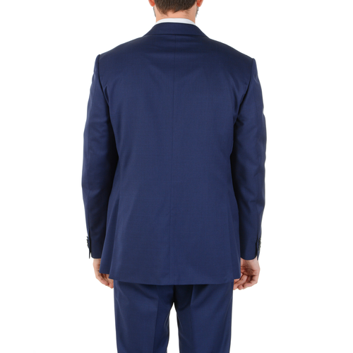 Corneliani Mens Suit Long Sleeves Blue Super 130's