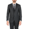 Corneliani Mens Suit Long Sleeves Dark Grey Super 130's