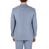 Corneliani Mens Suit Long Sleeves Light Blue