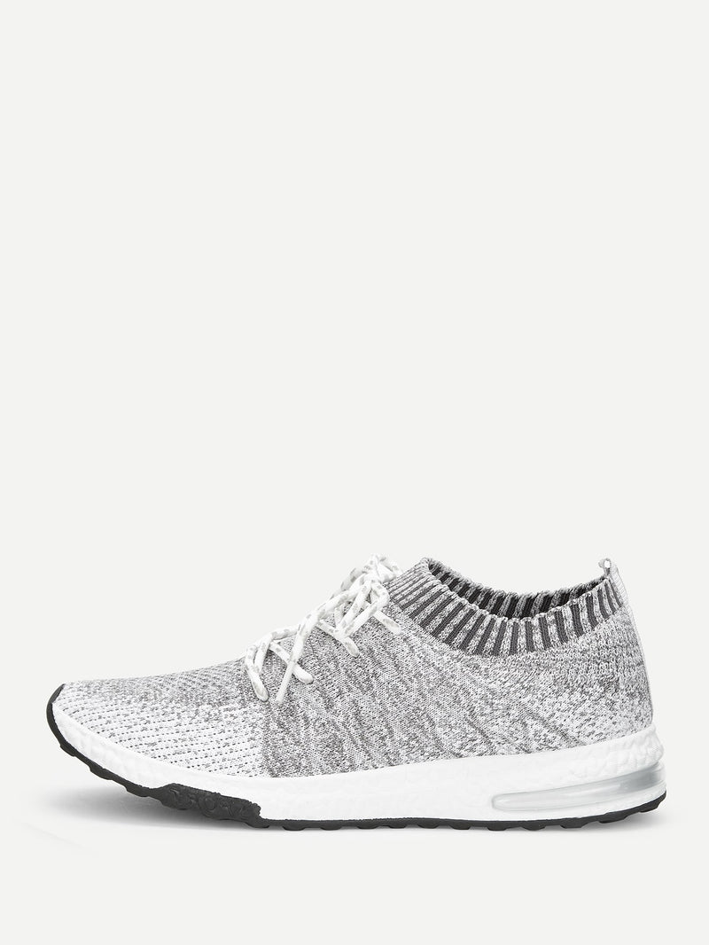 Men Lace-up Fly Knit Sneakers