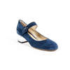 V 1969 Italia Womens Mary Jane Pump 312132 CAMOSCIO BLEU
