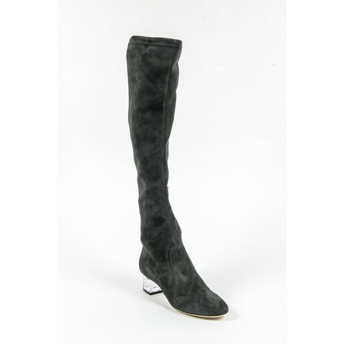 V 1969 Italia Womens High Boot 3123667 CAMOSCIO VERDE FERMO