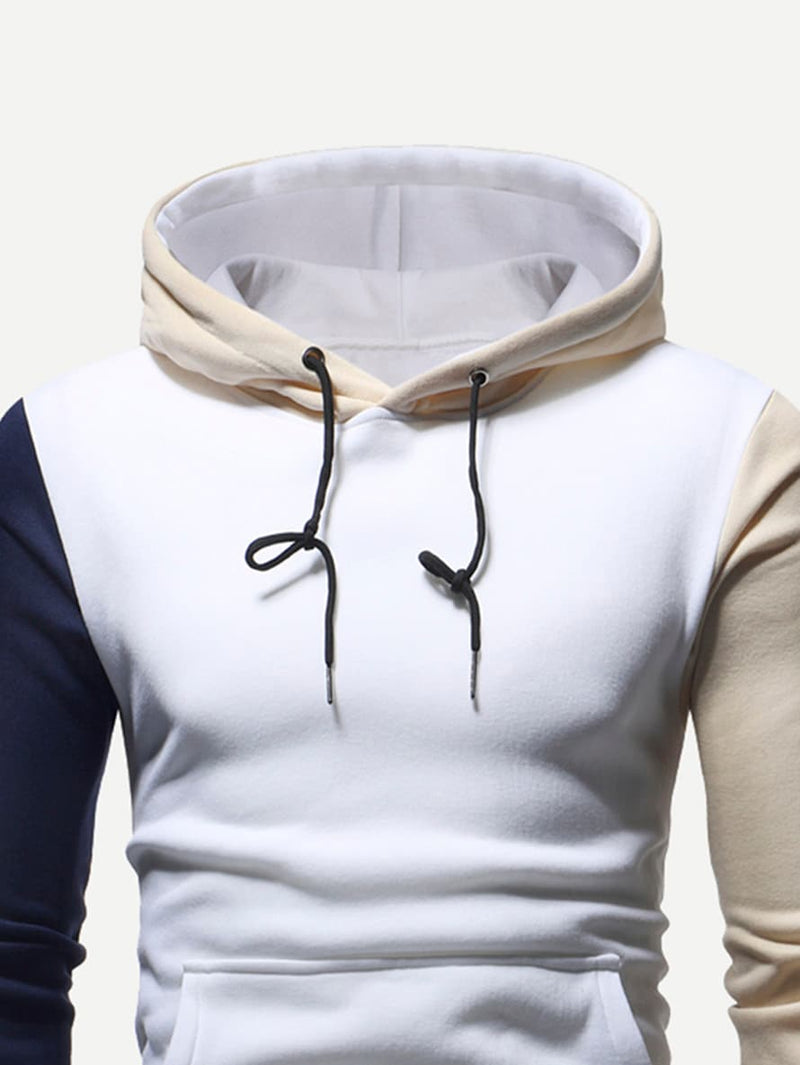 Mens Cut And Sew Panel BWC Hoodie
